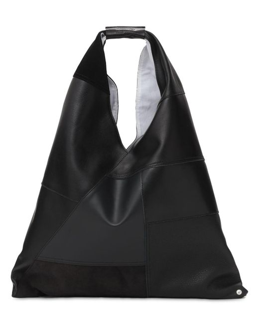 MM6 by Maison Martin Margiela Japanese Patchwork レザートートバッグ Black