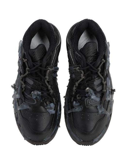 """Кроссовки """"fusion"""" Из Кожи И Сетки Меш Maison Margiela для него, цвет: Black"""