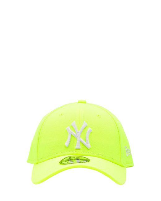 KTZ Yellow Neon Ny Yankees 9forty Baseball Hat for men