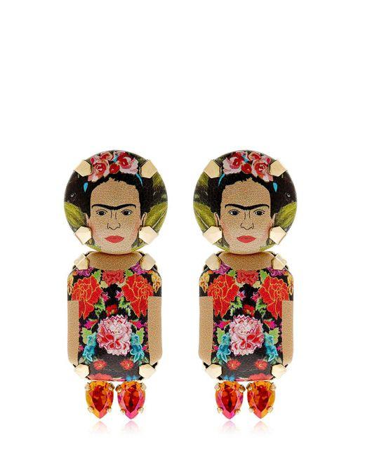 Bijoux De Famille | Multicolor Frida Pendant Earrings | Lyst