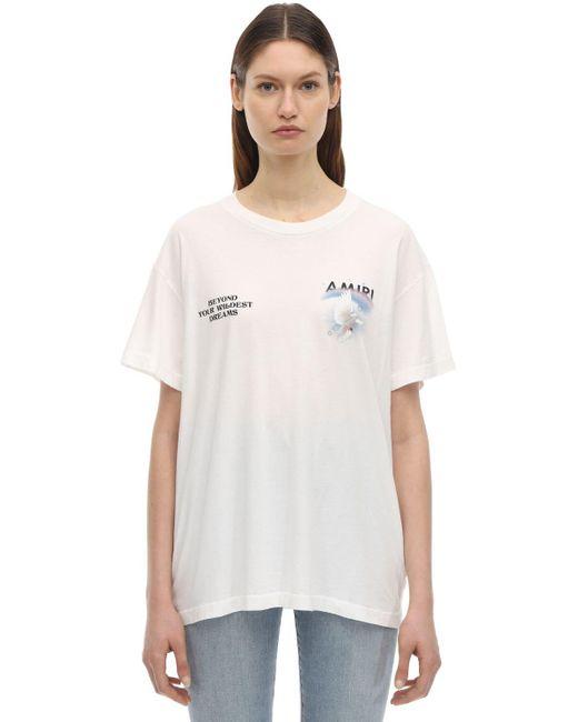 Amiri コットンジャージーtシャツ White