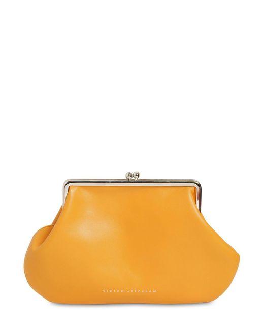 Victoria Beckham Pocket レザークラッチバッグ Orange