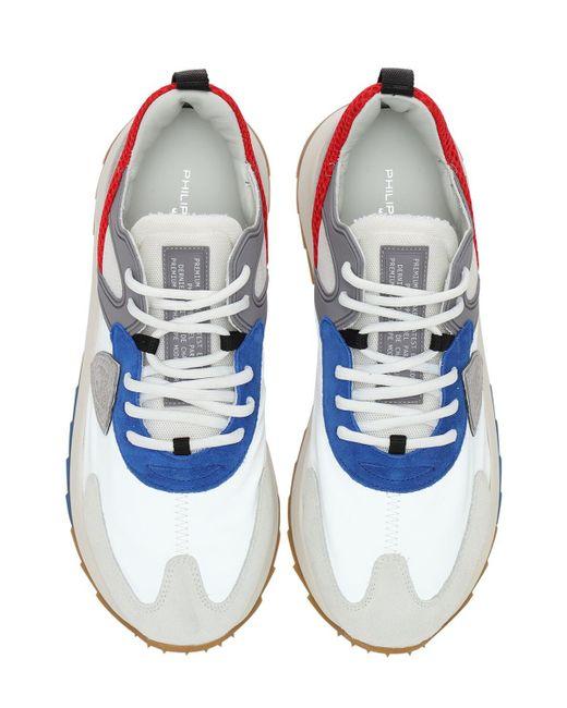 """Baskets De Course En Daim Et Nylon """"royale"""" Philippe Model pour homme en coloris Blue"""