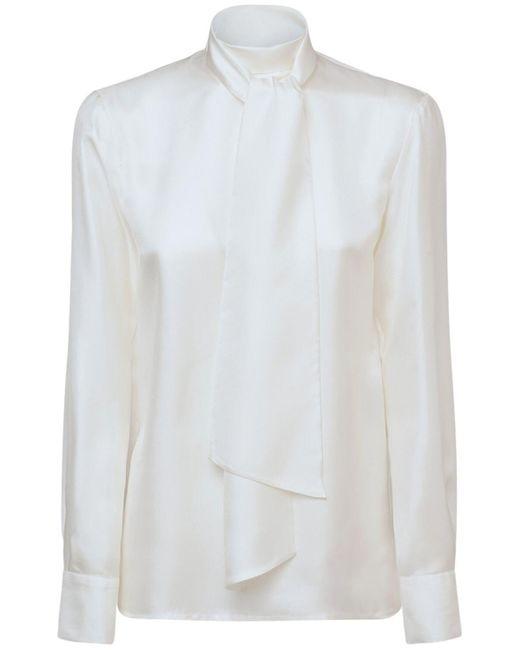 Emilio Pucci シルクツイルシャツ White