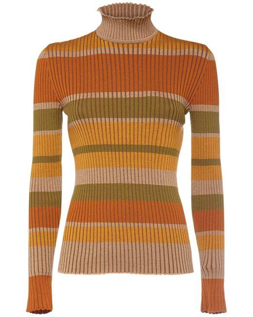 Alberta Ferretti ウールニットセーター Multicolor