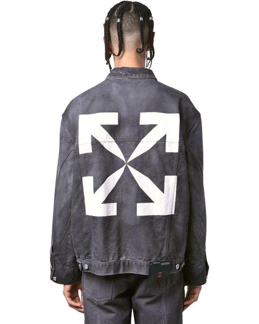 Куртка Из Хлопкового Денима Off-White c/o Virgil Abloh для него, цвет: Black