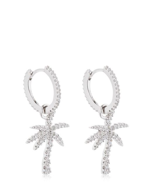Apm Monaco - Metallic Palm Tree Hoop Earrings - Lyst