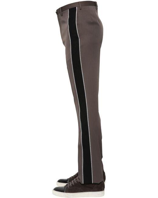 メンズ Lanvin ウール スリムフィットパンツ Black