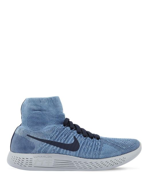 メンズ Nike Lab Lunarepic フライニットスニーカー Blue