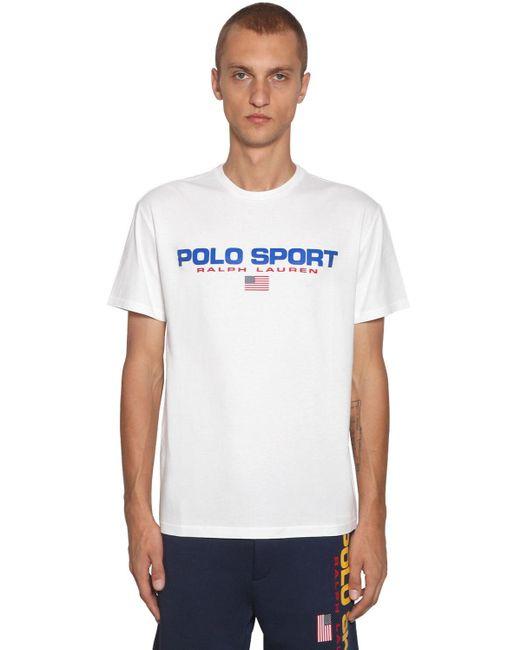 メンズ Polo Ralph Lauren コットンtシャツ White