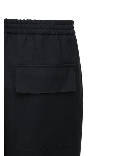 メンズ Jil Sander ファインウールギャバジンパンツ 20cm Black