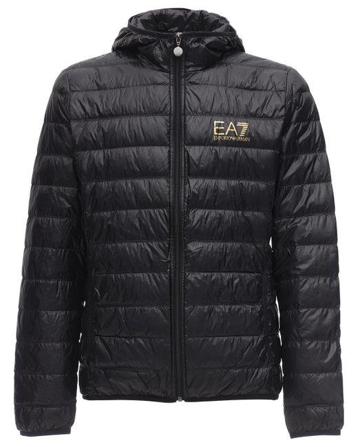 Пуховик С Капюшоном EA7 для него, цвет: Black