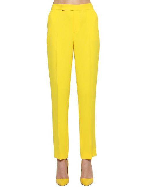 Ralph Lauren Collection クレープカディパンツ Yellow