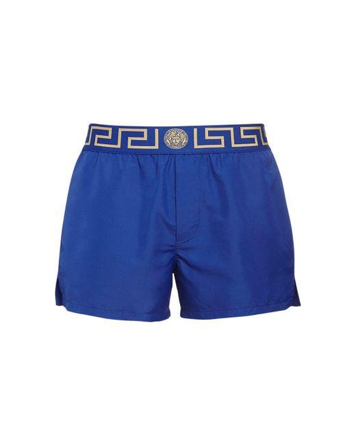 Плавательные Шорты Из Нейлона Versace для него, цвет: Blue