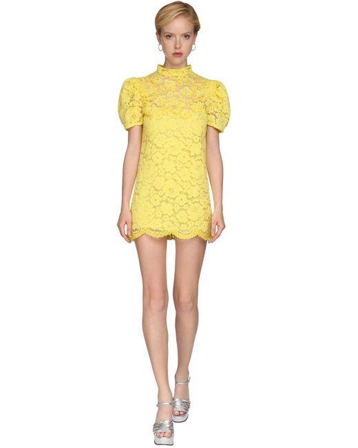 Marc Jacobs レースミニドレス Yellow