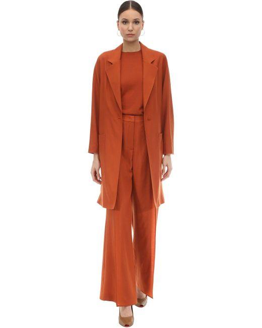 Agnona ウール&カシミア コート Orange