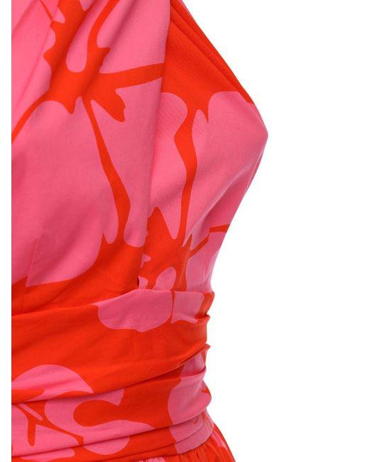Staud Elio コットンポプリンドレス Red