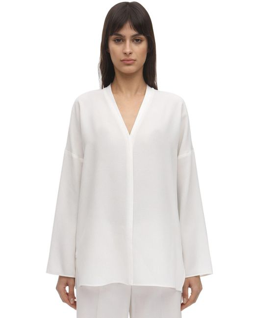 Agnona ウールブレンドシャツ White
