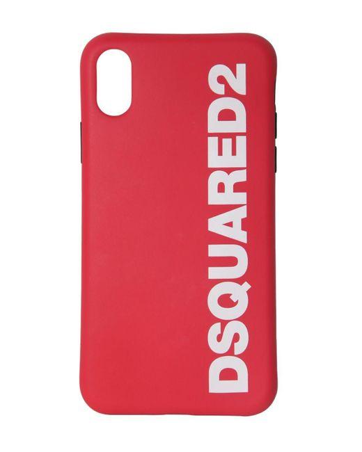 メンズ DSquared² Iphone X/xs ラバーケース Red