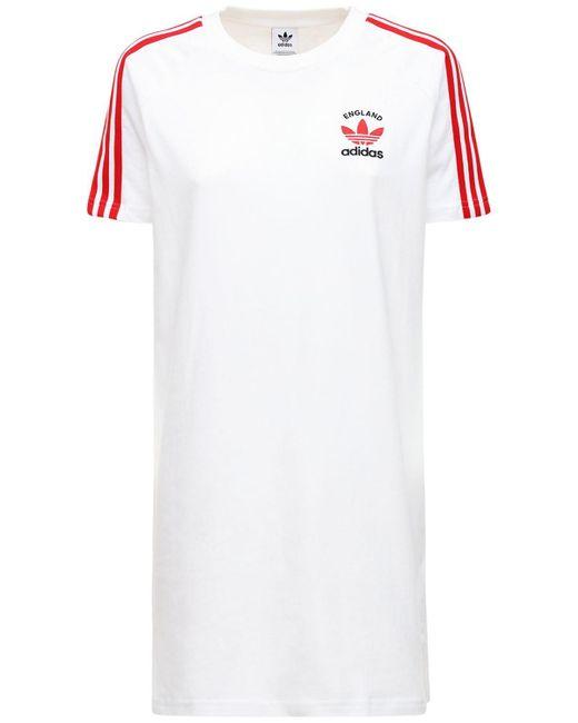 Adidas Originals 3-s England コットンtシャツウェア White