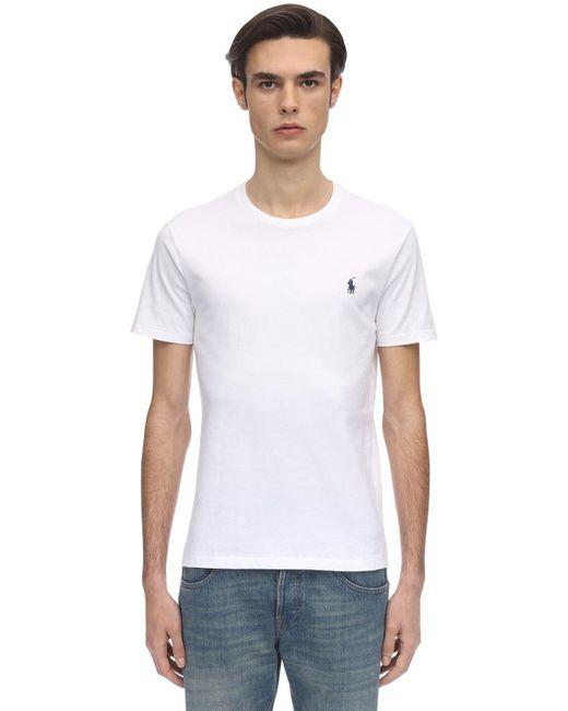 メンズ Polo Ralph Lauren コットンジャージーtシャツ White