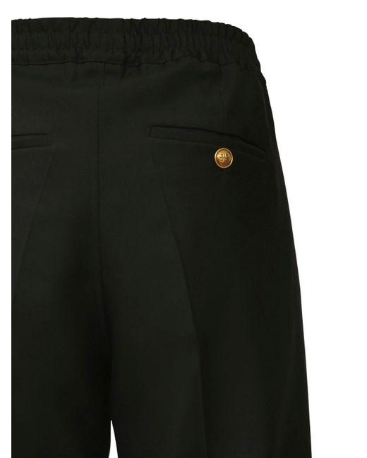 メンズ Givenchy ウールツイルパンツ 18.5cm Black