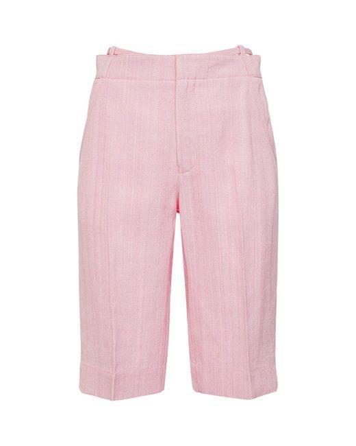 Jacquemus Le Short Gardian ビスコースバミューダパンツ Pink
