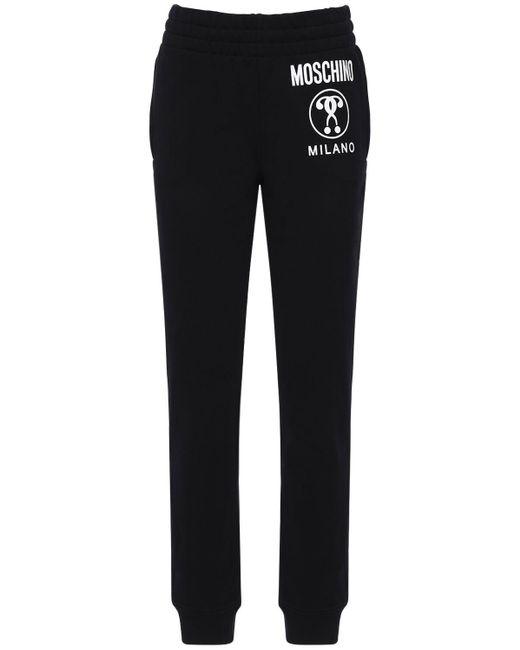 Спортивные Брюки Из Хлопкового Джерси Moschino, цвет: Black