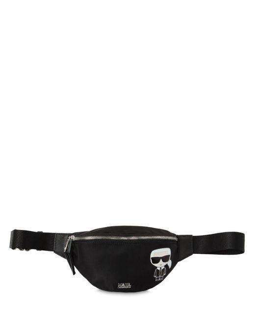 Karl Lagerfeld K/ikonik ナイロンベルトバッグ Black
