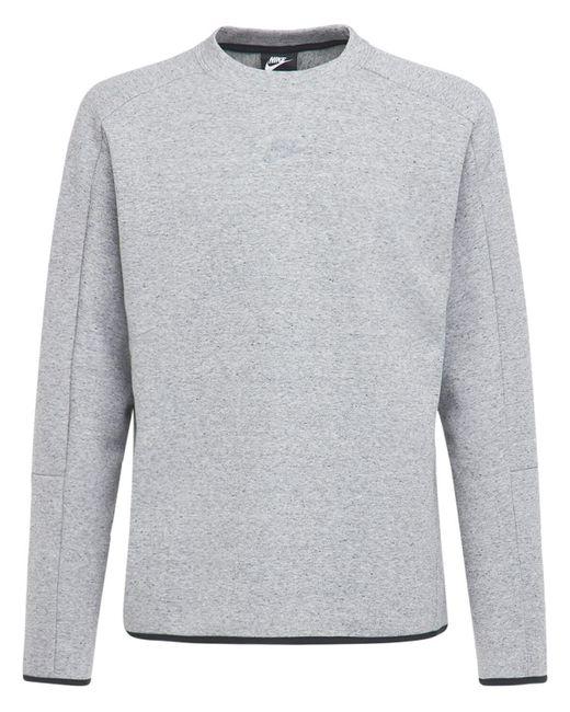 Толстовка Crew Из Флиса Nike для него, цвет: Gray