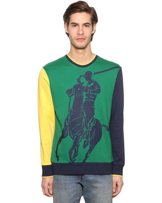 メンズ Polo Ralph Lauren コットンスウェットシャツ Green