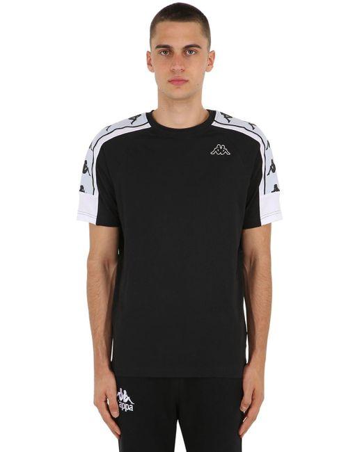 T-shirt En Jersey De Coton Avec Logo Kappa pour homme en coloris Black