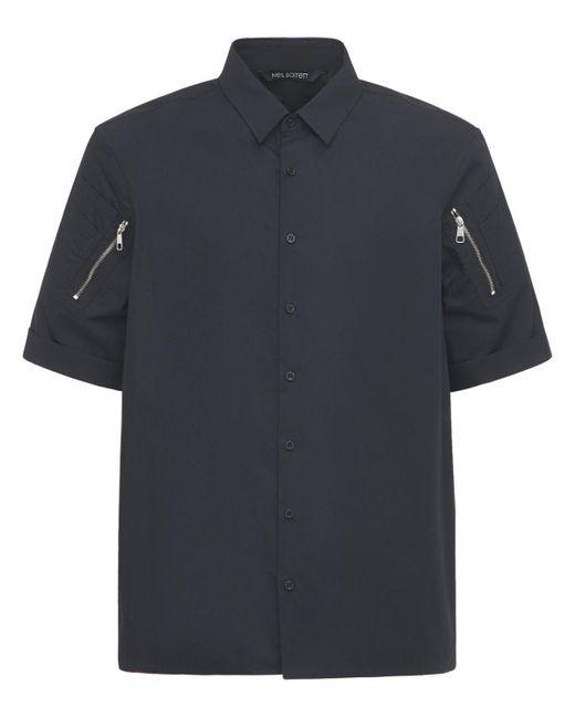 メンズ Neil Barrett Loose コットンシャツ Black