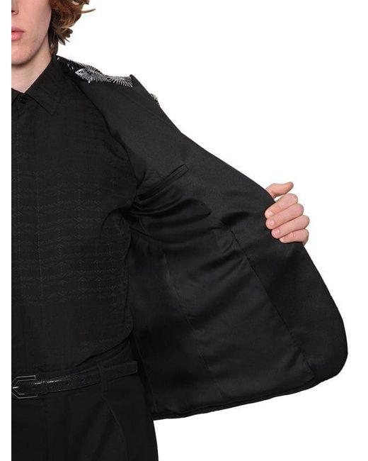 メンズ Saint Laurent コットンベルベットスパンコールイブニングジャケット Black