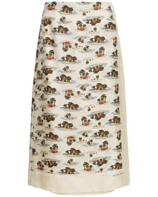 Bottega Veneta Hawaiian シルクツイルスカート Multicolor