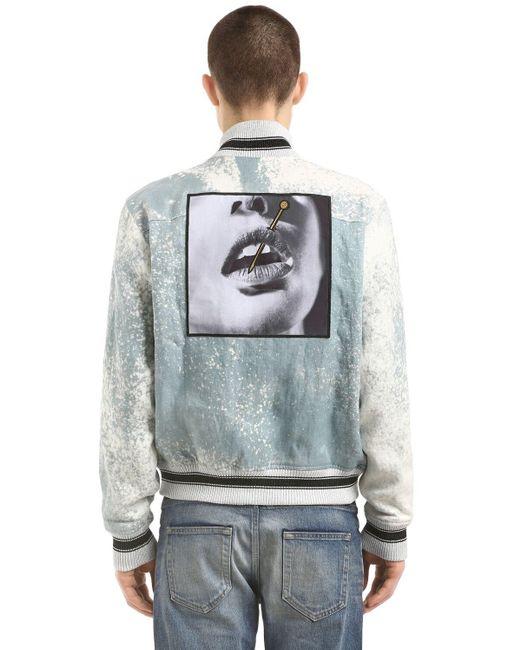 メンズ Herman Market リネンボンバージャケット Gray