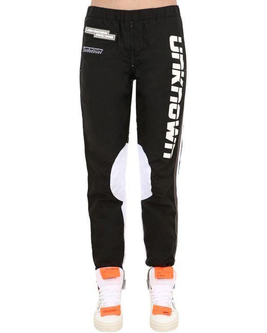 """Pantalones """"racing"""" De Nylon Unknown de color Black"""