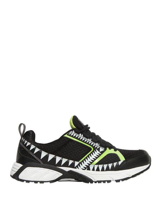 Volta Footwear | Black Terra Decor Mesh Sneakers | Lyst