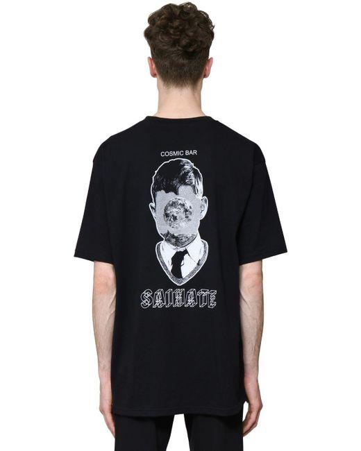 メンズ Undercover コットンジャージーtシャツ Black