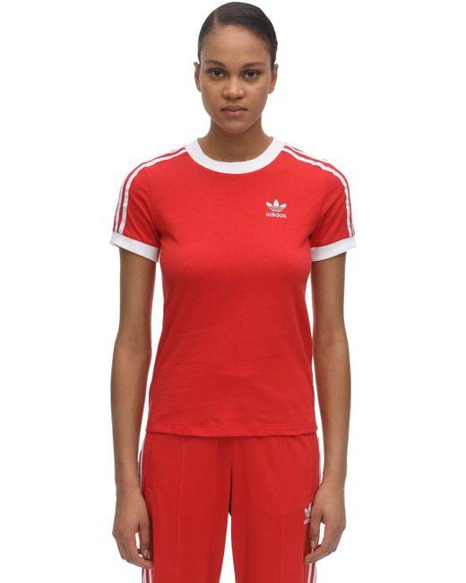 Adidas Originals コットンジャージーtシャツ Red
