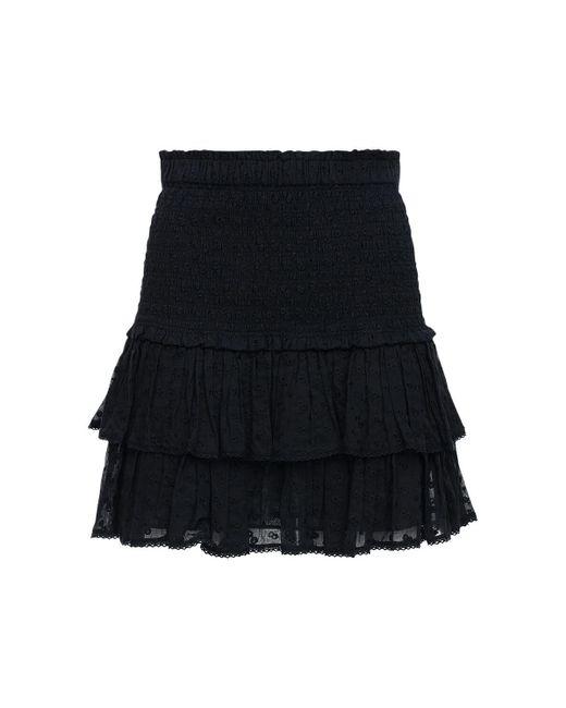 Étoile Isabel Marant Tinaomi コットンミニスカート Black