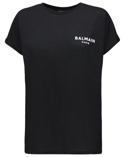 Balmain コットンジャージーtシャツ Black