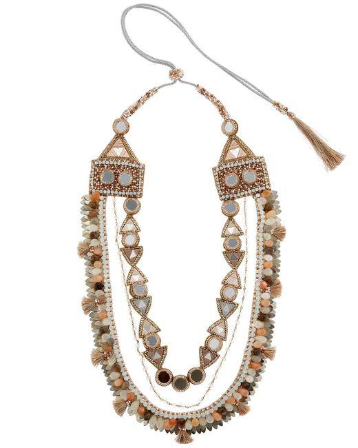 Deepa Gurnani | Metallic Seraphina Necklace | Lyst