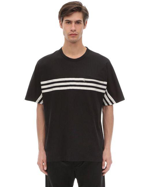 メンズ Y-3 ストライプ Tシャツ Black