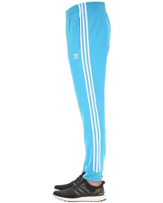 Adidas Originals Blue Adicolor Cotton Blend Sweatpants for men