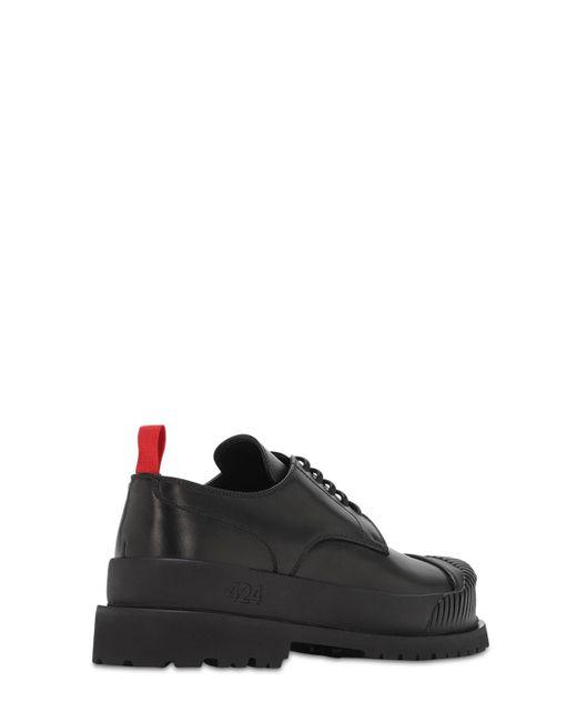Кожаные Туфли-дерби 424 для него, цвет: Black