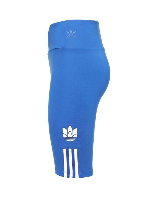 Adidas Originals Adicolor 3d Trefoil バイカーハーフパンツ Blue