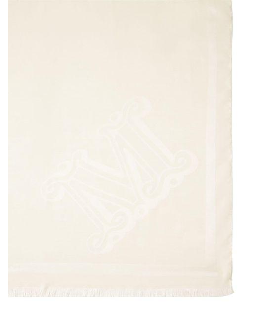 Max Mara Alea シルク&ウールスカーフ White
