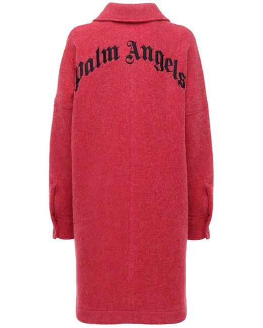 Palm Angels オーバーサイズウールジャケット Red