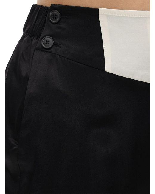 Morgan Lane Olive サテンパジャマパンツ Black